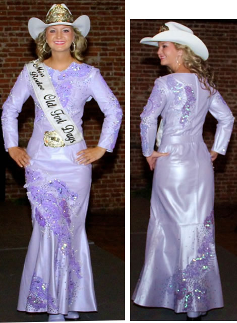 lavender lambskin leather rodeo queen dress