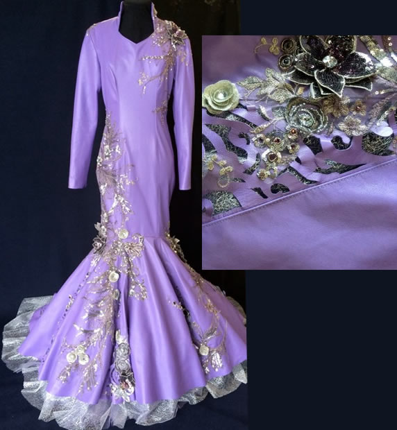 Lavender Lambskin Rodeo Queen Dress