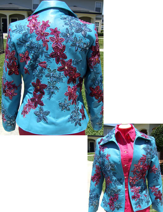 Turquoise-lamb-blazer designed by Blue Ridge Rags